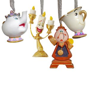 Disney Christmas Hanging Ornaments Beauty And The Beast Friends