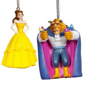 Disney Christmas Hanging Ornaments Beauty And The Beast