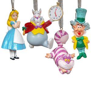 Disney Christmas Hanging Ornaments Alice In Wonderland