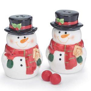 Festive Snowman Salt And Pepper