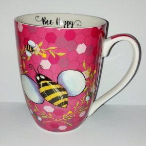 Bee Happy Mug - Pink