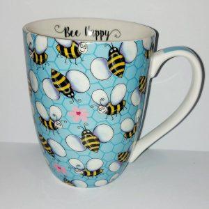 Bee Happy Mug - Blue